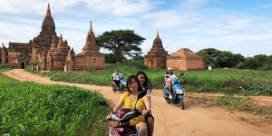 Full-Day Bagan Private Sightseeing Tour by E-Bike with Pickup